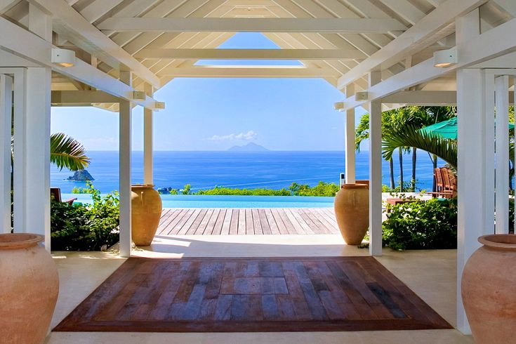 """Zen Life: 5 Blissful Spots for Yogis - If morning yoga is your thing, we can't think of a better place to do it than Fleur de Mer. French for """"flower of the sea"""", this villa may just be the world's best place to wake up and smell the roses."""