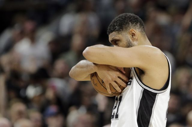 Of course Tim Duncan has a huge back tattoo that suggests he's a machine