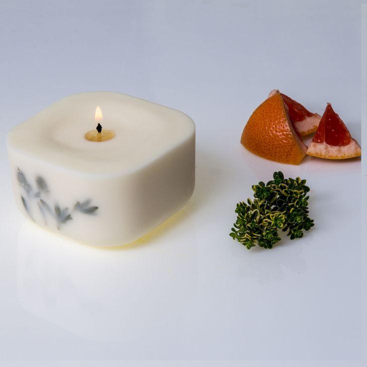 Vela aromática esencias: tomillo, pomelo, cedro – Candlemotion
