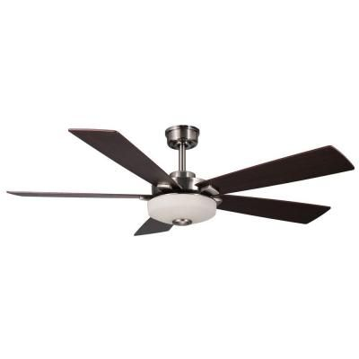 home decorators collection cameron 54 in brushed nickel ceiling fan14430 the home