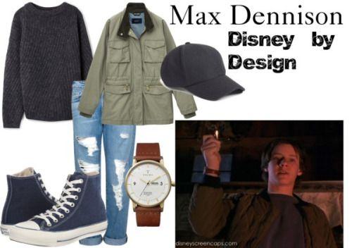 Max Dennison from Hocus Pocus Acne Studios dark grey sweater / GANT multi pocket jacket, $200 / Frame Denim distressed boyfriend jeans, $435 / Converse navy sneaker / Triwa brown jewelry, $180 / Phase 3 adjustable hat