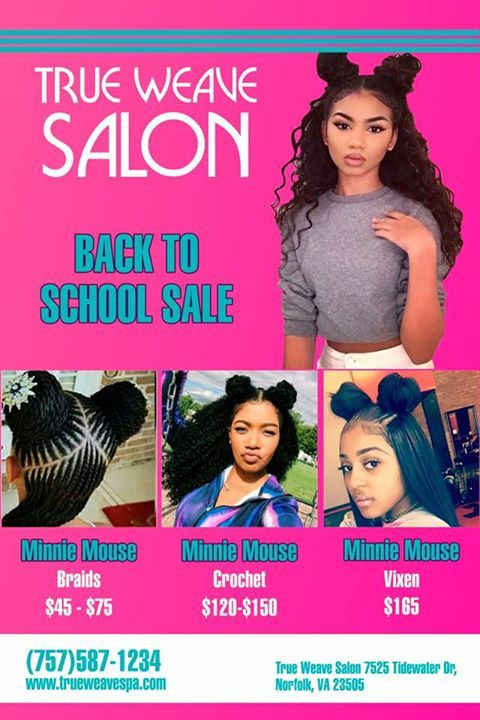 *****Back to School Special NEW Sew In Minnie Vixen!!!! $15 off ANY Sew In for STUDENTS ONLY!!!! **http://www.trueweavespa.com*** Call NOW 757-587-1234 TAG A FRIEND!!! LIKE! LOVE!! SHARE!!!!! WE SELL HAIR!! Bundles ANY length $60 per bundle 10'-24' straight or bodywave #http://www.jennisonbeautysupply.com/  ,#hairinspo #longhair #hairextensions #clipinhairextensions #humanhair #hairideas #hairstyles #extensions #prettyhair  #clipinhairextensions #hairextensions #longhairgoals…