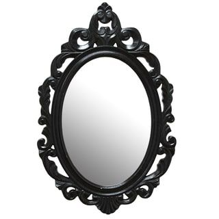 Abbyson Belvedere Black Resin Wall Mirror - Free Shipping Today - Overstock.com - 18461058
