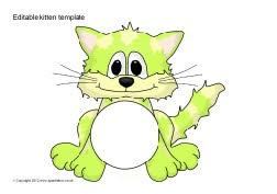 Editable kitten templates (SB8755) - SparkleBox