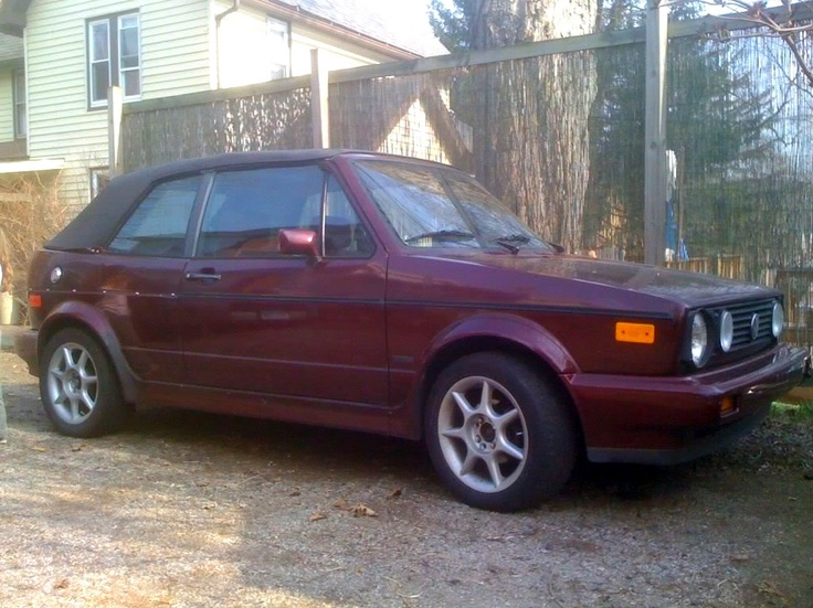 1991 VW Cabriolet (Etienne Aigner edition)  This photo is of my actual car. I bought it after I sold the Eurovan (didn