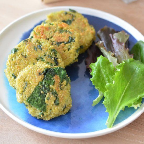 Quinoa Patties With Eggs And Spinach Pesto Recipe — Dishmaps