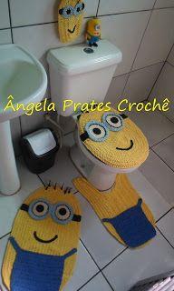 Ângela Prates Croche: Jogo de banheiro Minions
