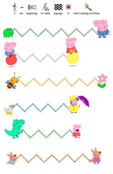 Peppa Pig Pre Writing Pencil Control Activity Worksheet