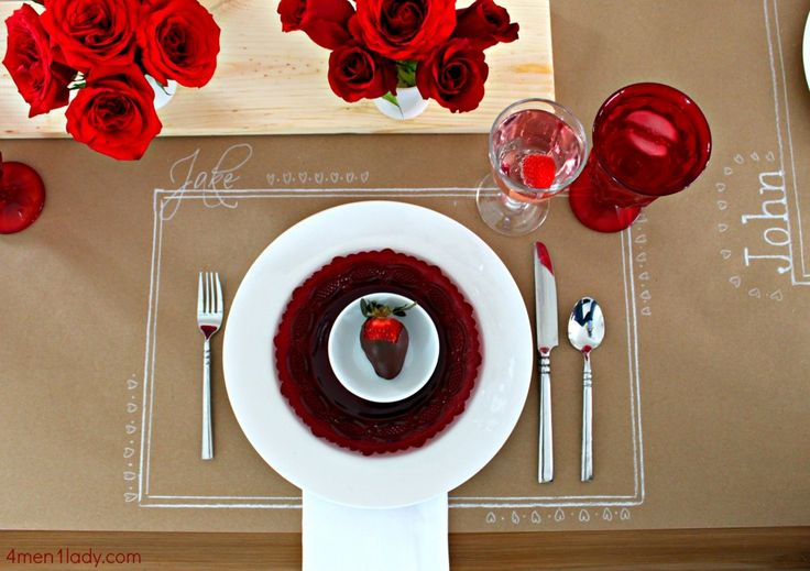 Set A Dinner Table Using Complimentary Packing Paper From
