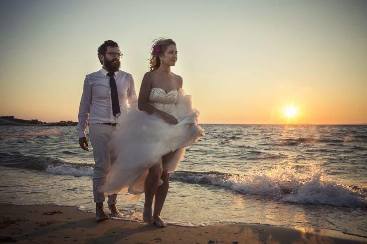 Walking on the beach together.. #beachwedding #weddingphotos #mythoswedding #kefalonia