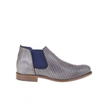 Pánské kotníkové boty z pravé kůže MATAR - šedá