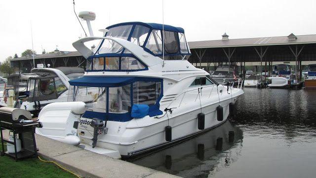 Our #SeaRay 400 Sedan Bridge #boat 'Boogaboo IV' at our marina.