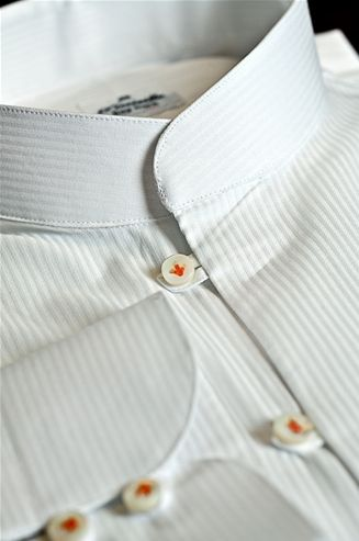 Tailor Made Shirt, Popeline fabric, Color white, Model of the neck Thay -  $159