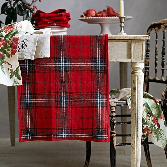 Classic Tartan Plaid Napkins, Set of 4, Red