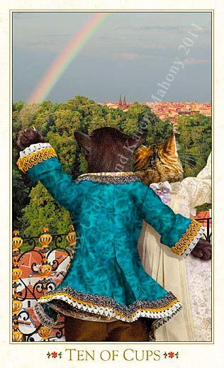 Ten of Cups - Bohemian Cats Tarot