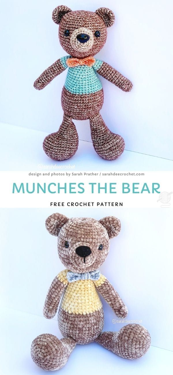 Crochet pattern bears PDF ternura amigurumi english- deutsch- dutch | 1300x600