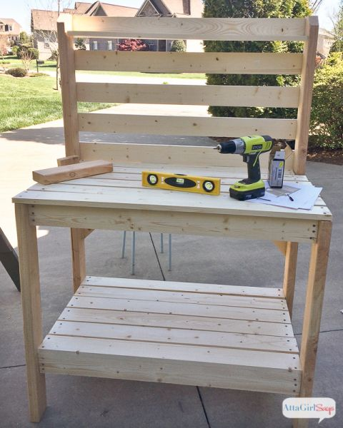 DIY Potting Bench U0026 Outdoor Buffet Table