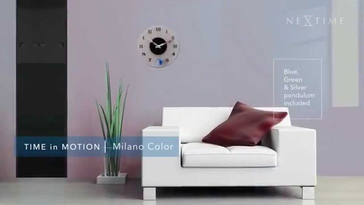 NeXtime - Milano Color - 8635Based on an old-time best-seller, this Milano Color has a funny twist. Sold with three different color pendulums (blue, green and silver), it fits everyone's room and everyone's mood.