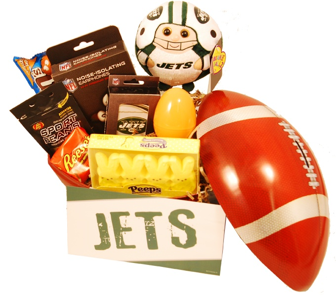 19 best gifts for new york giants fans images on pinterest new new york jets easter basket a fun basket to send for young grid iron fans negle Images