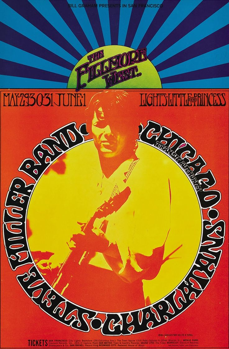 Classic Rock Posters | 20 Classic Vintage Psychedelic Rock Posters from the 60s