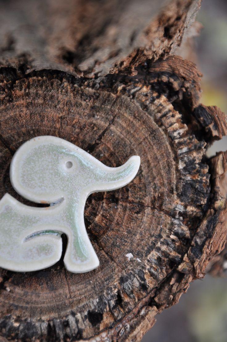 Elephant ceramic token.
