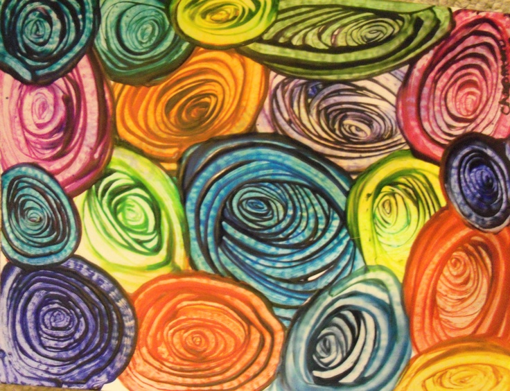 RAINBOW SPIRALS original Patty Chapman   waxdreams   20x24