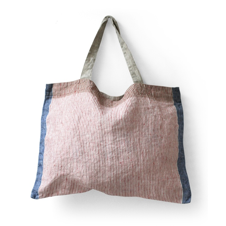 Lino e Lina/バッグ デルフィ レッドブルー 3360yen 使いやすいA4サイズのリネンバッグ
