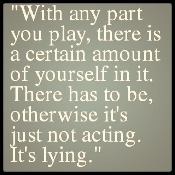 Real talk! You have to be able to relate to the role you are playing and really take on the character