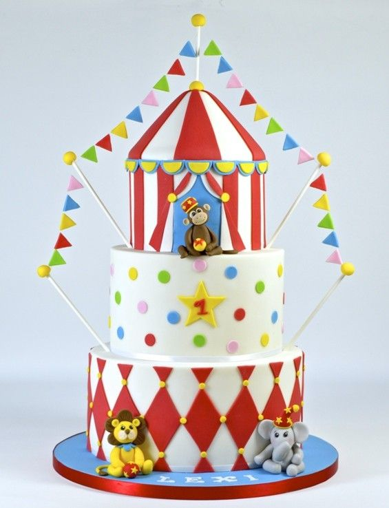 How to Make a Circus Cake - To view the tutorial, please visit http://www.craftcompany.co.uk/circle-cake-how-to.html