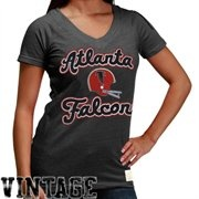 Reebok Atlanta Falcons Ladies Take Back Tri-Blend V-Neck T-Shirt - Ash