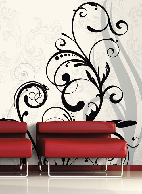 Endless Possibilities Mural Full Wall Or Chair Rail Sizes With This Swirl.  Http:/ Part 75