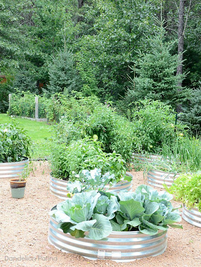 Simple Raised Garden Farmhouse Style - Dandelion Patina