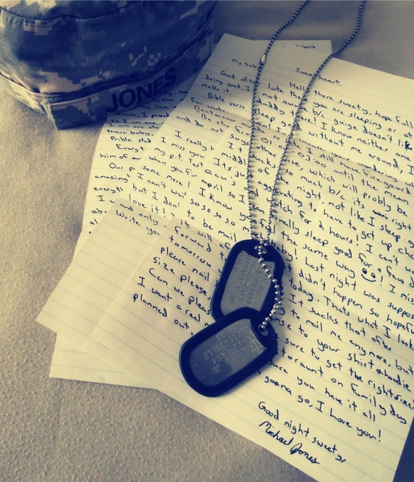 How do I write to my soldier in boot camp?