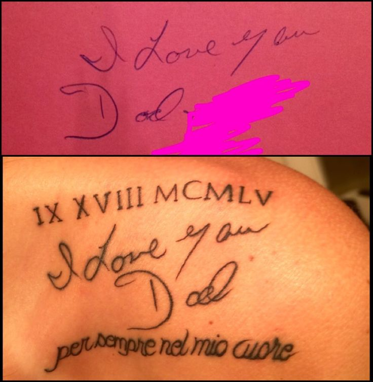 Memorial Tattoo For My Dad His Hand Writing: 25+ Best Ideas About Handwriting Tattoos On Pinterest