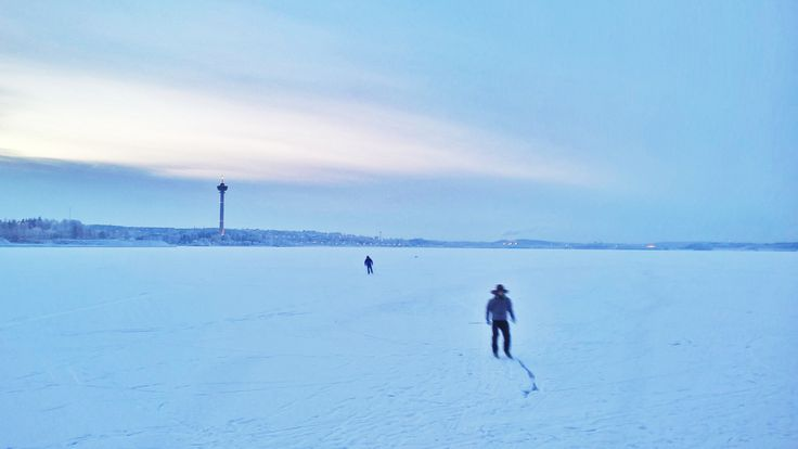 Lake Näsijärvi in January, Tampere Finland