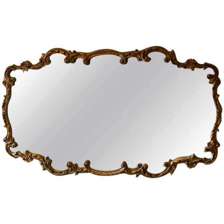 Wall Mirror, French Louis XV Style Gold Wall Mirror | From a unique collection of antique and modern wall mirrors at https://www.1stdibs.com/furniture/mirrors/wall-mirrors/