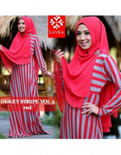 Layra Dekey Stripe – Red