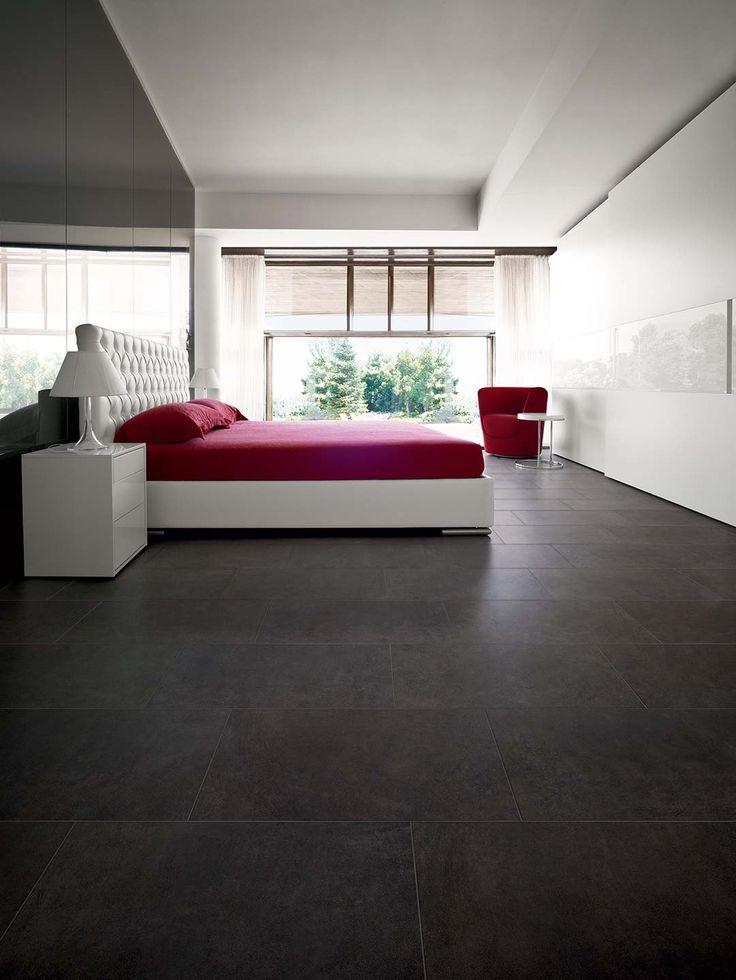 Porcelain ceramic resing flooring and wall covering: Resins Collection #dark #black #flooring #interiors #bedroom #sleep #good #night