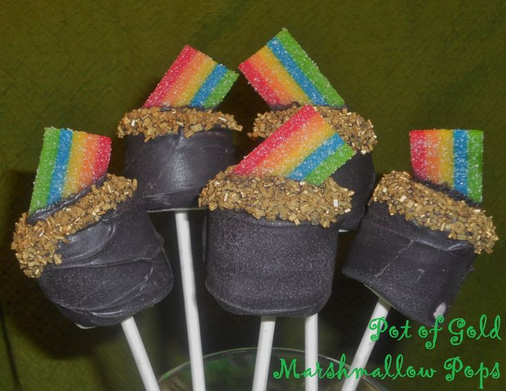 pot of gold Marshmallow Pops for St. Patrick's Day