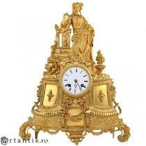 monumental ceas de semineu - bronz Ormolu - Japy Freres cca 1860