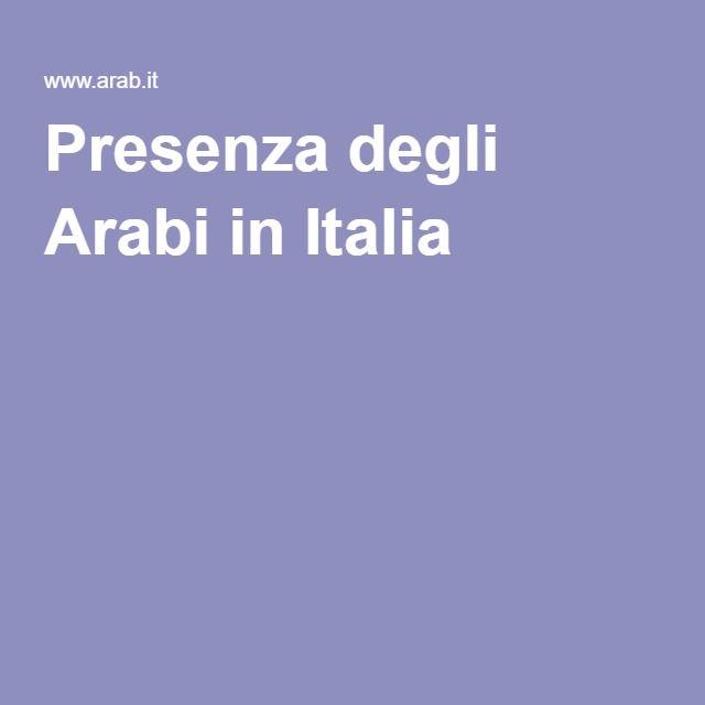 Presenza degli Arabi in Italia