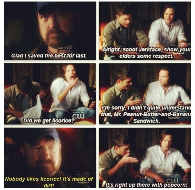 "Supernatural--sweetest moment in the series, Bobby's last memory of ""his"" boys"