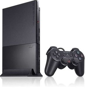Sony Playstation 2 Slim Black PS2 Player Pak