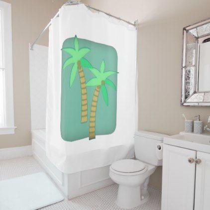 Palm tree Shower curtain - summer gifts season diy template ideas