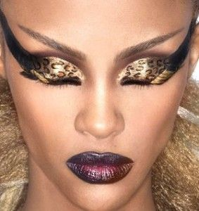 dramatic eye makeup! I have to learn how to do this!!!!!! So African gorgeous! Makes me want to go to the Sahara and do a photo shoot! LOL!
