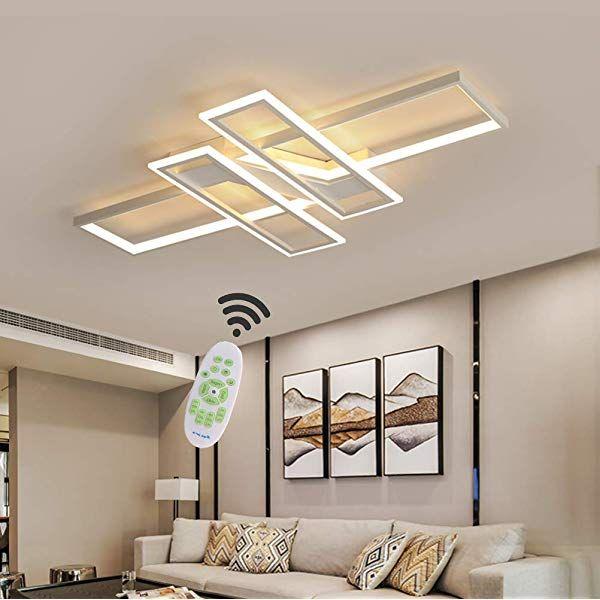 Wohnzimmerlampe LED Deckenleuchte Dimmbar Deckenlampe mit
