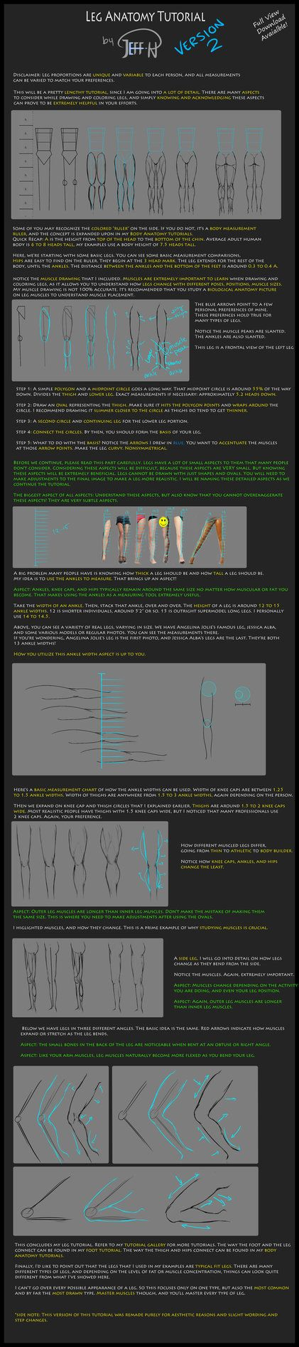 Leg Anatomy and measurement tutorial. Gotta love legs. Mmm. More tutorials can be found in my gallery, in the Tutorials folder. Currently available tutorials: Female figure Basic Hand Basic Express...