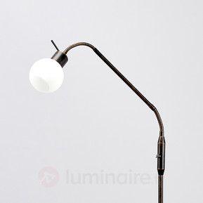 Lampadaire rustique LED Elaina, couleur rouille