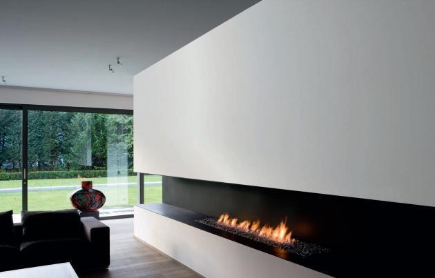 modern architecture - fireplace - metalfire
