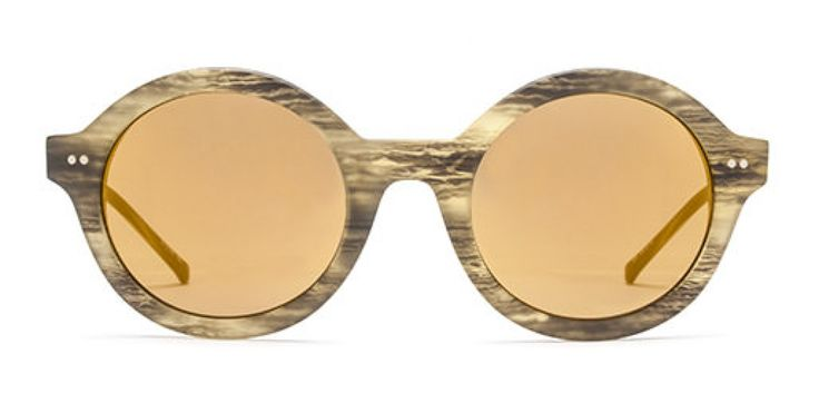 ABOUT A ROUND I Our chunkiest round shape shades - with pin hole hinge for a classic touch.